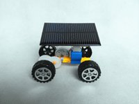 Wholesale Small Plastic Robot Toy - DIY Solar Designers children's early childhood educational toys wholesale car model package material science and technology small production