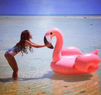 Wholesale Spot ins hot style inflatable children white swan swim ring and flamingos swimming race small animals Infants and young children