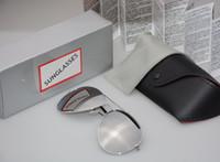 óculos espelhados para mulheres venda por atacado-De alta qualidade Da Marca Designer de Moda Espelho Das Mulheres Dos Homens Polit Polarized Sunglasses UV400 Esporte Do Vintage óculos de Sol com caixa e casos