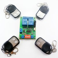 Wholesale Electric Motor Door - Smart Home Wireless remote control switch 4x Transmitter + 1x Receiver kit RF Module for Electric door gate LED Motor 433.92M