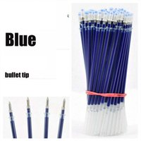 Wholesale 100pcs Neutral Ink Gel Pen Refill Neutral Pen High Quality Black Blue Red mm Replace Refill Stationery Material Escolar