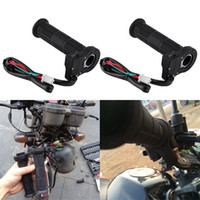Wholesale 22mm handlebars resale online - 2pcs HOTGRIP DONG SHI RONG mm Motorcycle Electric Heated Warm Molded Grips Handle Handlebar Warmer for Moto Ungrade