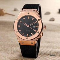 Wholesale Band Bang - luxury man big bang quartz rose gold watches black dial mens watch rubber band men skelton spotwatch hub cheap band military watches