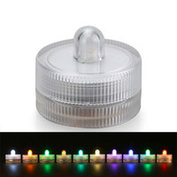 China Wholesale 100pcs / lot RGB Cor Changing Centerpiece Crystal Decor Longo Durável Baterias LED Submersível Under Vase Tea Light