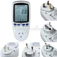 Wholesale Electricity Energy Watt - High Quality EU US AU UK France Plug Digital LCD Energy Amps Meter Watt Volt Voltage Electricity Monitor Analyzer Power Factor