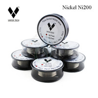 Wholesale Feet Temperature - Vapor TECH Pure Nickel Ni200 Wire Temperature Control Wire 30 Feet 22 24 26 28 30 32 Gauge for DIY Atomizer RBA Coil