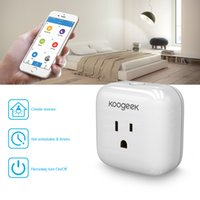 Wholesale Energy Monitoring - Koogeek Home Smart Plug WiFi Enabled with Apple HomeKit Technology Support Siri Control Electronics Monitor Energy Consumption P1