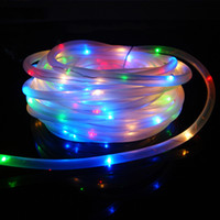 Wholesale String Lights Fence - 7M 50Leds Solar LED String Lights Outdoor 9 Colors Rope Tube Led String Solar Powered Fairy Lights for Garden Fence Landscape