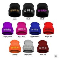 11 Cores Inverno Unisex Warm Knitted Beanies Chapéus Moda Bad Hair Day Letter Printed Beanie Hip Hop Sports Hat Ski Cap CCA6959 100pcs