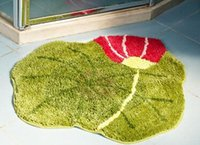Wholesale Oval Carpets - 70*70cm Lotus Flower Bathroom Carpet Oval Mat for Hallway Porch Rugs Table Footcloth