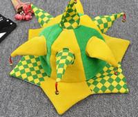 ingrosso corna di protezione della sfera-2016 Vendita calda Creativa Coppa Europa Cappellini Moda Corno Nazionale Germania Francia Spagna Brasile corona Clown Carnival Ball caps