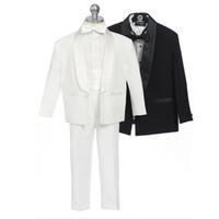 Wholesale Style Complete Designer Boy - Children Tuxedos 2016 New Style Custom Made Kid Complete Designer Boy Wedding Suit Boys Attire (Jacket+Pants+Belt+BowTie) SW01