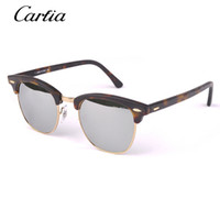 sports celebrities - carfia Vintage Celebrity Sunglass silver mirror Brand Designer Yurt Sun Glass Fashion Summer Sun Glass for men Sport Sunglass Women with box