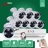 Wholesale Hybrid 1tb - ANRAN 8CH hybrid HDMI 720P AHD DVR 1800TVL Waterproof Array IR Outdoor Day Night Home CCTV Security Camera System With 1TB HHD