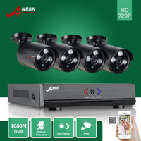 Wholesale Outdoor Cctv Cameras - ANRAN Surveillance 4CH HDMI 1800N AHD DVR 1800TVL 720P 3 Array IR Day Night Outdoor Waterproof Video Security Camera CCTV System