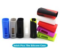 Wholesale Mod Sleeves - Istick Pico 75W Silicone Case Protective Sleeve Case Cover Skin for iSmoka Eleaf Istick Pico 75W Box Mod DHL Free