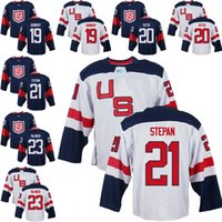 Wholesale Ryan Suter - Mens Team USA 19 Brandon Dubinsky 20 Ryan Suter 21 Derek Stepan 23 Kyle Palmieri 2016 World Cup of Hockey Olympics Game Jerseys M-3XL