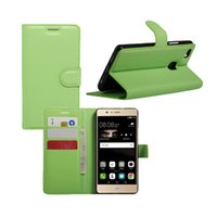 Wholesale Huawei Ascend Honor Cases - Leather Case For Huawei Ascend P9 P9Lite P8Lite Y360 Y560 Honor 5C Honor 5X Flip Stand Wallet Card Slots Magnet Buckle Mix Wholesale