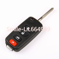 Wholesale Sentra Nissan Remote - New Switch Folding Flip 4 Button Keyless Entry FOB Remote KEY Case Shell For Nissan Altima 350z Maxima Sentra Infiniti Q45 I35 No Chip