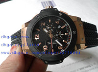 Sport sport power bands - Mens Model Men Rose Gold Quality New King Power black Rubber band Mens Swis Quartz Chronograph Mens Watch Men s Watches