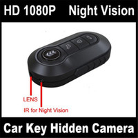 Wholesale Detection Metals - 1920*1080P Metal Body Full HD Mini Car Key Remote Spy Hidden Camera Motion Detection with Night Vision Key DVR Portable Camcorder