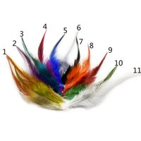 Wholesale Chicken Feathers - 720pcs lot 3.5-5.5inches 9-14cm Multi-Color Chicken Dyed Feathers Hair Accessories Wedding Party Decoration Clothing Supplies Wholesale IF7
