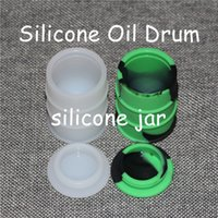 Wholesale toy drums wholesale - Barrel shape big size 26ml wax bho oil dab oil wax silicone barrel rubber drum silicone jars container rubber for wax slick containers