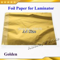 Wholesale A4 Laminator - Wholesale-Free Shipping 50 Pcs 20x29Cm A4 Gold Hot Stamping Foil Paper Laminator Laminating Transfere Laser Printer Business Card