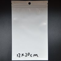 Wholesale Opp Bags 26 - Clear White Pearl Plastic Poly Bags OPP Packing Zipper Lock Package Accessories PVC Retail Boxes Hand Hole 20*30 18*26 16*26