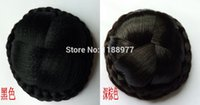 Wholesale 68g big size chignon hairpiece Hair pieces updos Synthetic hair bun braid extension fake hair bun XL A0014 FreeShipping