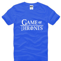 Wholesale New T Shirt Song - New Summer Game of Thrones T Shirts Men Cotton Short Sleeve Tee A Song of Ice and Fire Man T Shirts Fashion Male Moive Tops Tees Best Gifts