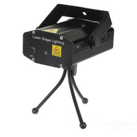 Wholesale Laser Projector Dance - Mini Portable Sound Active 4 Patterns CROSS Green Red RG Laser Stage lighting Projector DJ Show Wedding Dance Bar Party