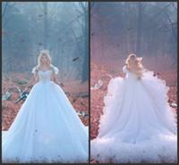 vestido branco da praia ocidental venda por atacado-2019 elegante vestido de baile branco tule vestidos de casamento de praia modesto barato plus size vestidos de casamento ocidental