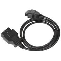 câble elm327 achat en gros de-Albabkc Câble 1.5m Extension Câble 16 Pin ELM327 OBD II OBD2 Extension Câble Connecteur Auto Voiture Outil De Diagnostic Adaptateur