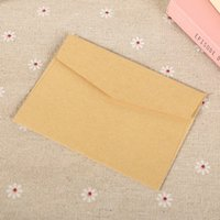 Wholesale Small Invitations Card - Wholesale- 50Pcs LxW: 11x8cm Colorful Mini Kraft Envelope Business VIP Card Small Wedding Party Invitation Card Paper Envelopes office