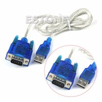 Wholesale usb serial port adapters - Wholesale- USB to RS232 Serial Port 9 Pin DB9 Cable Serial COM Port Adapter Convertor #R179T#Drop Shipping