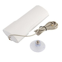 Wholesale Antenna 3g Connector - White 30DBI 3G Booster Signal Amplifier 1M Cable External Antenna CRC9 Connector