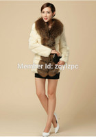 Wholesale Sell Rabbit Fur Coat - Wholesale-Cool Fashion New 2016 Tops Selling Luxury High-Grade Rabbit Fur Coat Plus Size