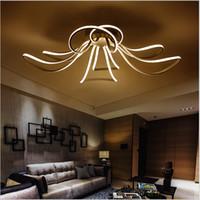 Wholesale Minimalist Ceiling - Creative modern minimalist led ceiling light line Ceiling Lighting AC85-265V for living room bedroom lamparas white home light