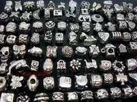 Wholesale price for love - 100pcs mixed Tibet Silver Beads for Jewelry Making Loose Alloy Metal Charms DIY Hole Beads for European Bracelet Wholesale in Bulk Low Price