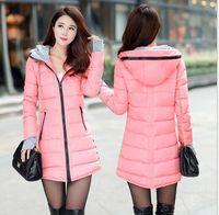 Wholesale Ladies Down Coat Medium - Women's Jacket Winter 2016 New Medium-Long Down Cotton Parka Plus Size Coat Slim Female gloves Ladies Casual Clothing Hot Sale