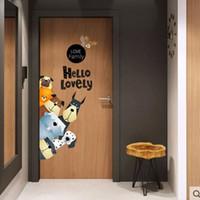 Wholesale decor piece for door for sale - Group buy 10 Styles Cartoon Animals Door Sticker for Baby Kids Room Children DIY Art Wall Decal Nursery Bedroom Decor Poster Mural