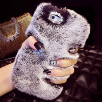 Wholesale Real Phones S4 - Top Quality Real Rabbit Fur Phone Case For Iphone 7 6 6S Plus 5 5S 5C 4 Samsung Galaxy Note 7 5 4 3 2 S7 S6 Edge Plus S5 S4 S3