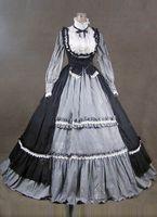 Wholesale belle costumes for women online – ideas 2016 Noble Vintage Black Gothic Steampunk Victorian Dress Civil War Southern Belle Costumes For Women Halloween Party Dress