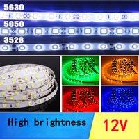 Wholesale Smd 3528 Led Strip Multicolor - LED Light Strip RGB Multicolor SMD 5050 5m 300LEDs 12V DC Indoor IP65 Adhesive Backed for Easy Installation LED Tape Light
