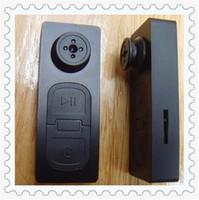 Wholesale Video Cards Pc - Spy Mini Audio Hidden DV Camera Button Audio Video PC DVR Voice Recorder DVR Cam 720*480 Black New mini Camcorders for TF SD card