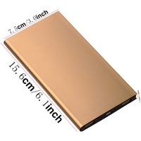 Wholesale Tablet W Cell Phones - Hot 6000mAh Ultra Thin Super Slim Metal Solar Power Bank solar External Battery Pack Mobile USB Charger for iPhone iPad Tablet