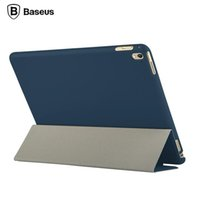 "Wholesale Ipad Patent Leather Case - 100% Original Baseus Brand for iPad Pro 9.7"" Case Slim Foldable Leather Case Full Body Case For iPad Pro Mini 9.7 Tablet Case"