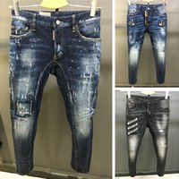 Wholesale Button Holes - 2017 new fashion design men jeans famous brand biker jeans men top quality wholesale factory