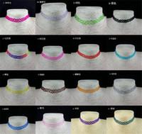 tattoo chocker großhandel-Heißer Verkauf 15 farben Vintage Hippie Stretch tattoo Choker Henna Halskette Elastische Chocker D890